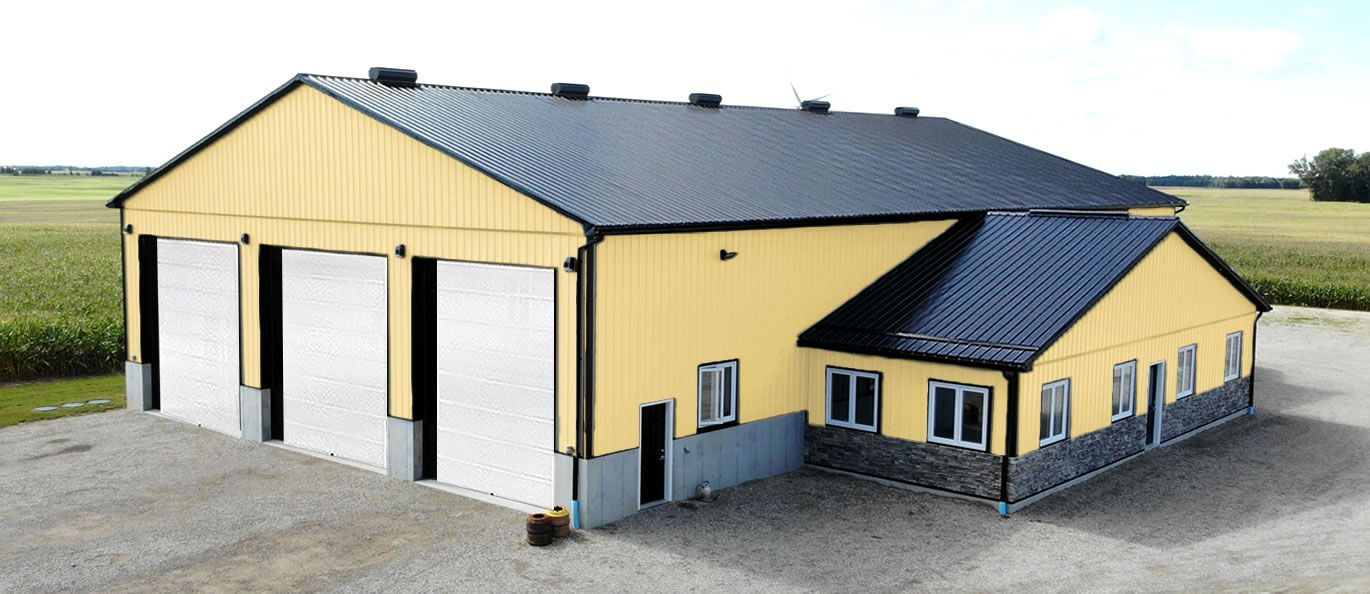 roof: charcoal - siding: gold - doors: white